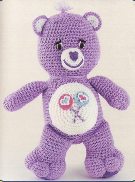 Care Bears Crochet Characters Teddy Bear Childs Soft Toy Crochet