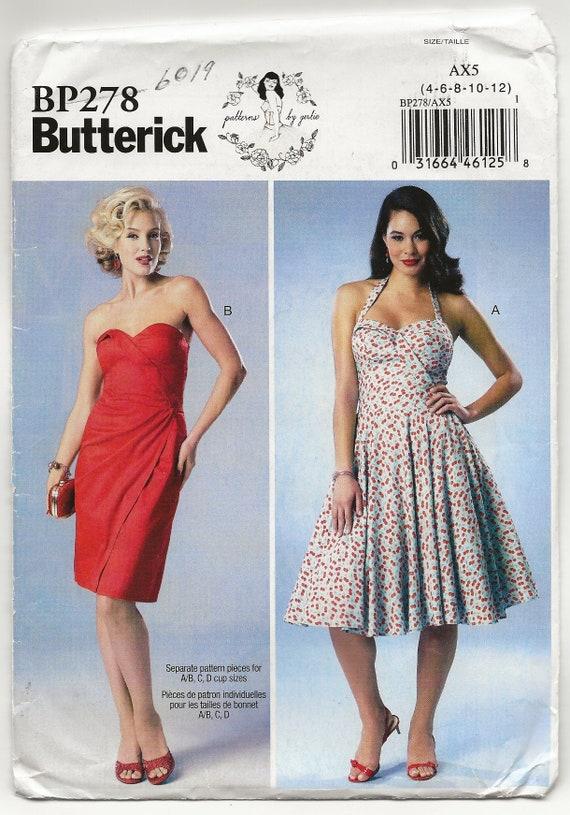 40s Inspired Dress Pattern Butterick 40 Sweetheart Neckline Etsy Fascinating 50s Style Dress Patterns