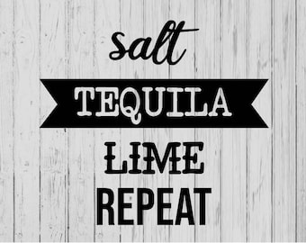 Salt Tequila Lime Etsy