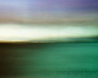 Green Sea Waters.  Abstract Landscape. Fine Art Photograph. Green Sea.