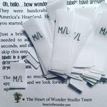PRE-CUT, Fold-over SIZE etc. Clothing Labels {Colorfast/Fray-proof/Iron-on/Sew-in}