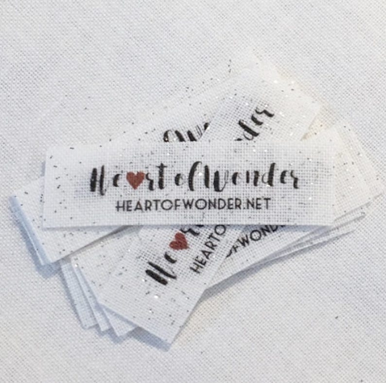 SPARKLE 70 PRE-CUT Custom Clothing Labels image 0