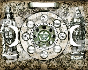 Ancient Goddess Pendulum Board -  Digital Download emailed to you