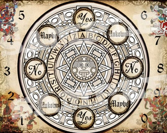 Aztec Gods Pendulum Board -  Digital Download emailed to you