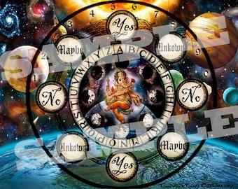 Cosmic Ganesha Pendulum Board -  Digital Download emailed to you