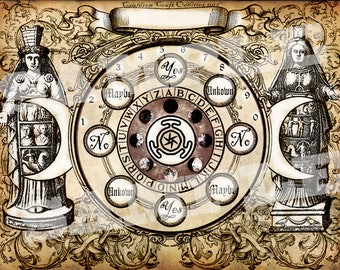 Hekate Goddess Pendulum Board -  Digital Download emailed to you