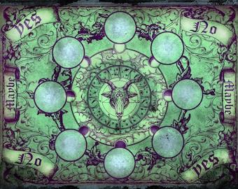 Baphomet Pendulum Board - Green Patina - Digital Download emailed to you