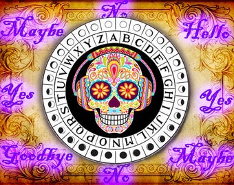 Trippy Sugar Skull Pendulum Board - Digital Download emailed to you