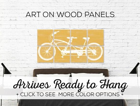 Tandem Bike Wall Art Extra Large Wall Art Bike Wall Art