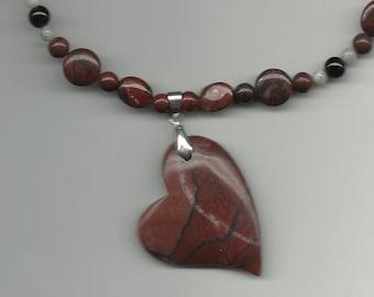 RED JASPER HEART Necklace