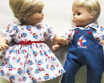 Custom for American Girl Bitty Baby Twin Girl or Boy White Tee T-Shirt