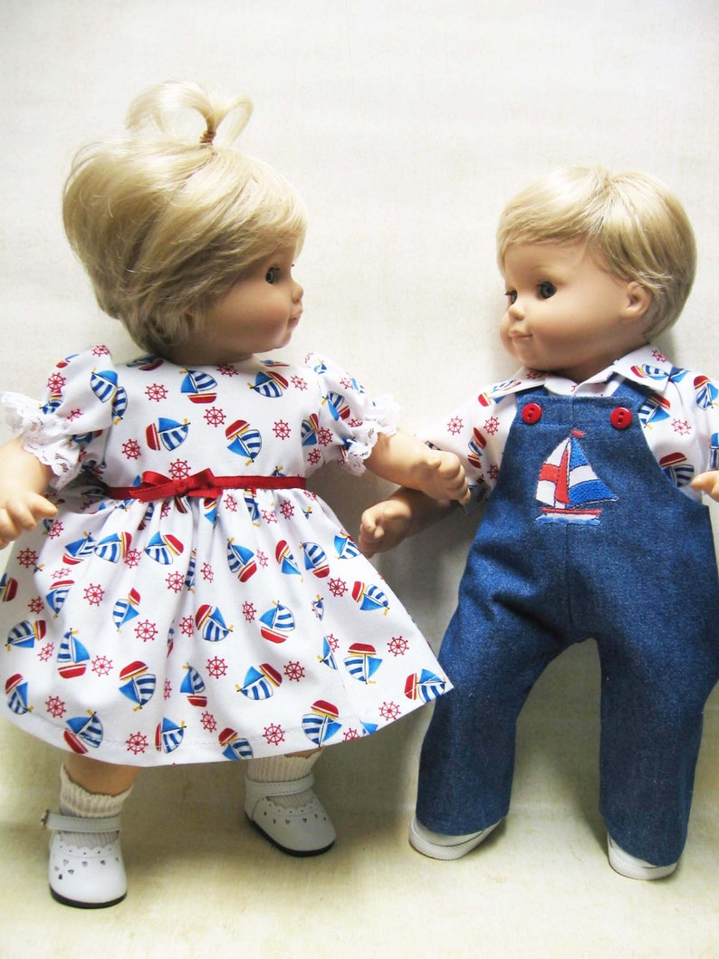de3f8c565 Sailboat Outfit for Bitty Baby Girl or Boy or Twins Doll   Etsy