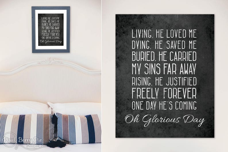 Glorious Day by Casting Crowns // 8x10 Print Poster Christian image 0