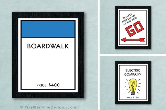 photograph about Monopoly Printable titled Electronic Obtain First Monopoly Board Recreation Place - Printable Art Record // Sport area wall artwork // Board sport printables