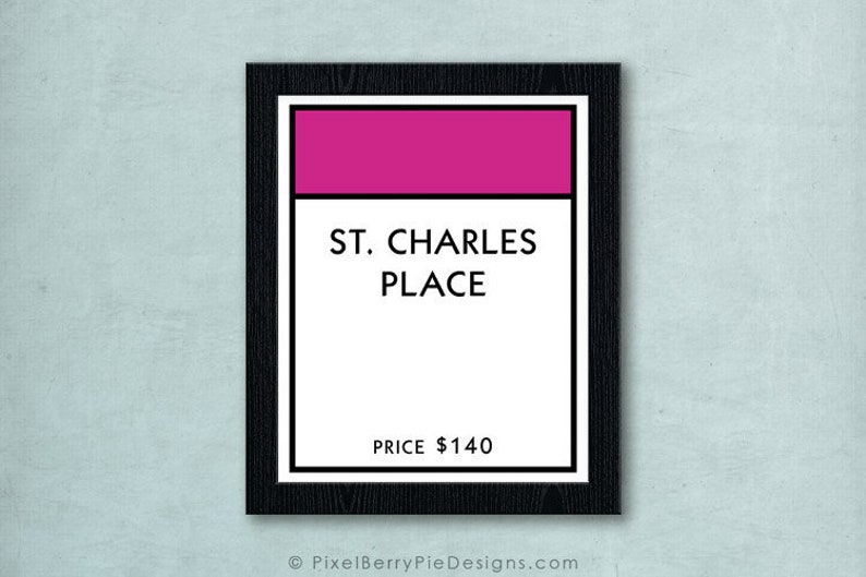 Monopoly Property Board Space // ALL Properties Available // image 0