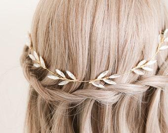 Crystal Hairvine, Gold Hairvine, Crystal Hairpiece, Leaf Hairpiece, Leaf Hairvine, Feather Hairvine, Feather Hairpiece, Bridal Hairpiece