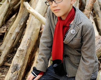 Merino Wool Pocket Scarf for Children in two Sizes