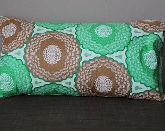 Small Oriental Green & Gold Retro Cushion