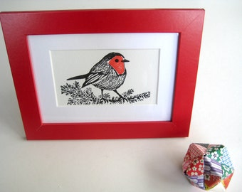 Limited Edition Letterpress Print - Robin