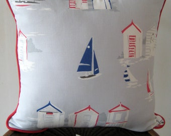 Maritime Cushion Cover with piping
