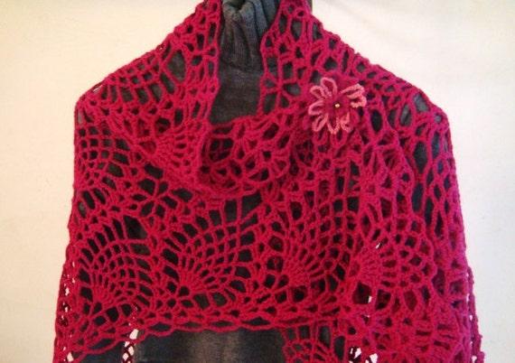 Pineapples Lace Crochet Shawl Pattern Pdf Etsy