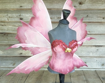 Embellishment upgrade-painting-ombre, custom colors, rainbow painted wings