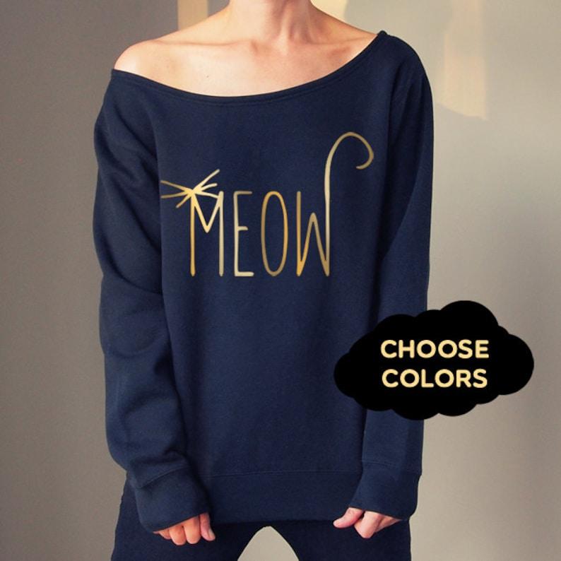 8301c47a9 Cat Sweater Custom Off Shoulder Off Shoulder Sweater Cozy