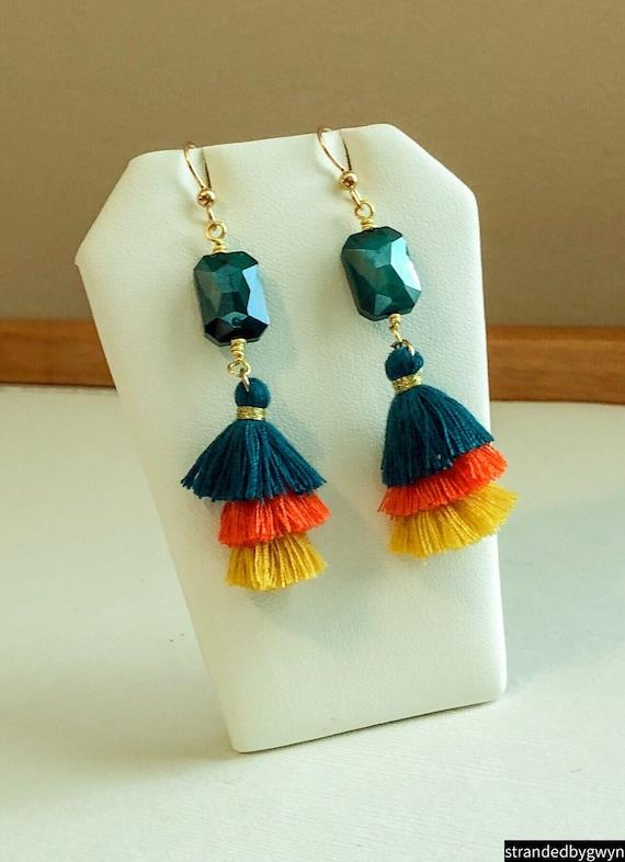 Caribbean Tassel Earrings