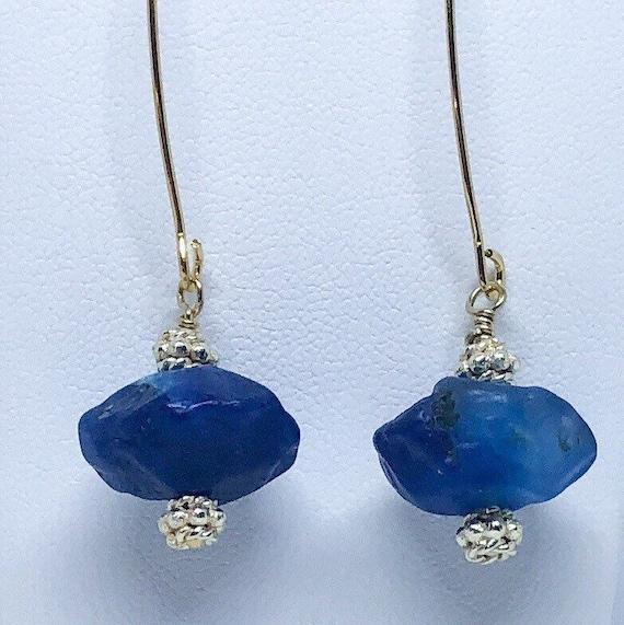 Hammered Agate Earrings