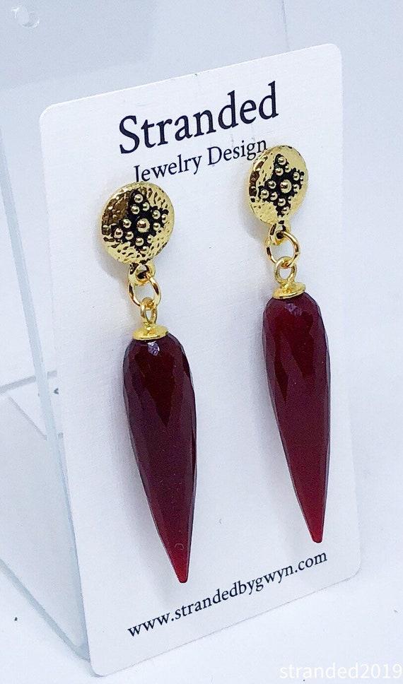 Royal Red Earrings