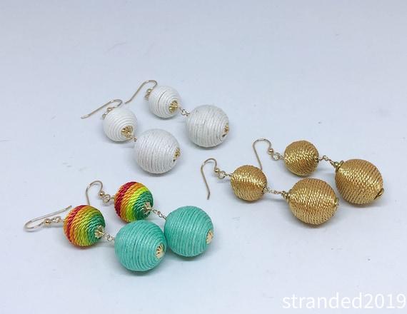 Chic Threaded Bead Earrings