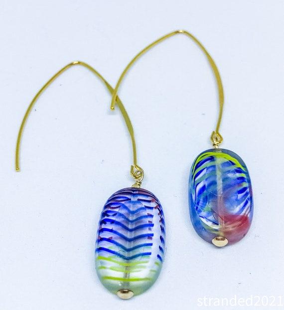 Stripey Glass Earrings