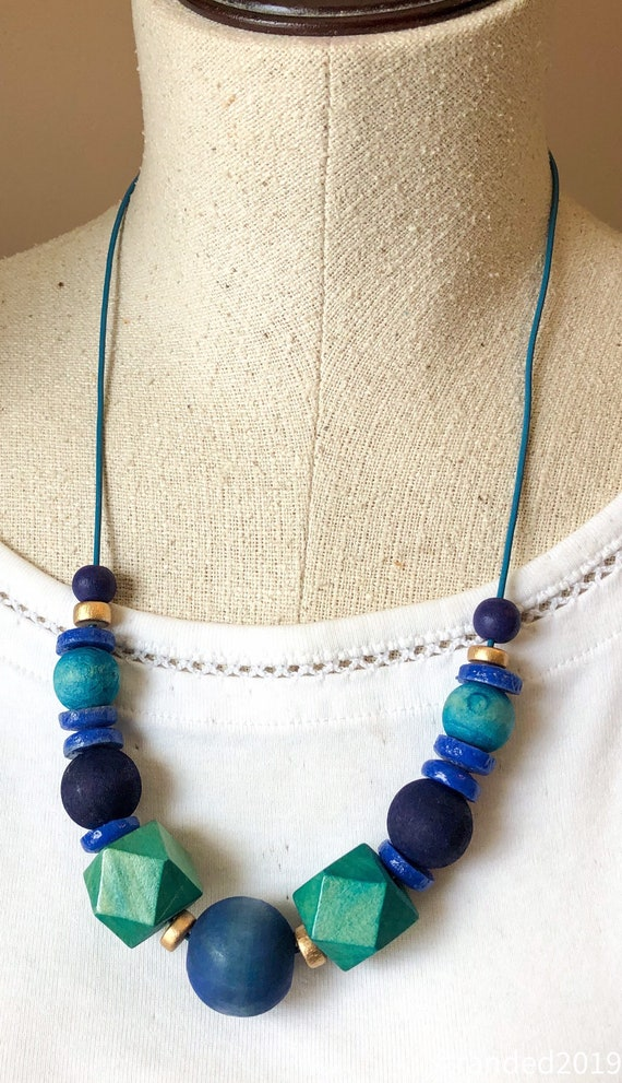 Bright Chunky Wood Necklaces