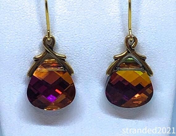 Flaming Swarovski Earrings