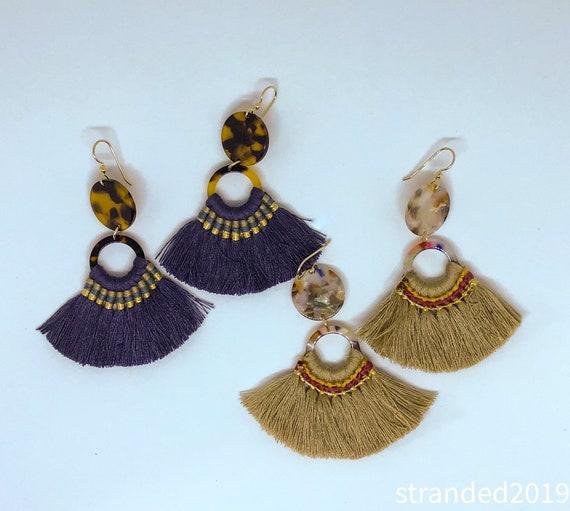 Tassel and Tortoise Earrings