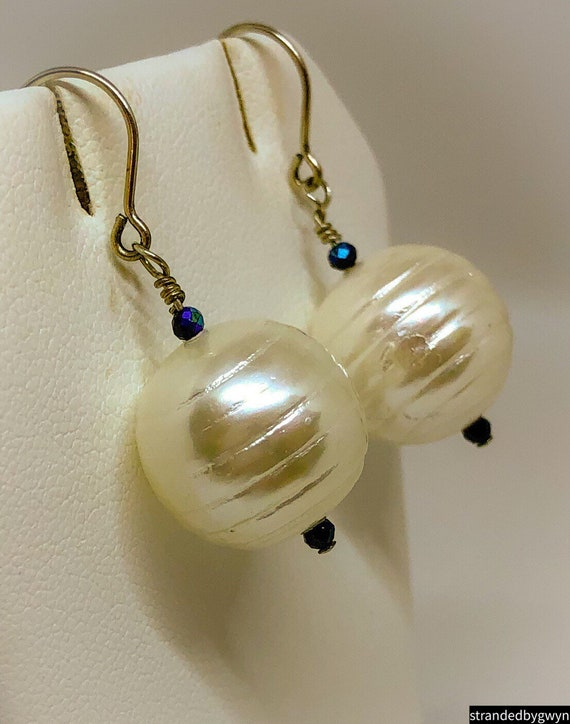 Mother of Pearl and Spinel Bauble Earrings