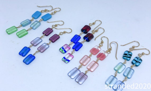 Colorful Chiclet Earrings