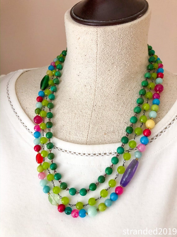 Multi-strand Carnival Necklace