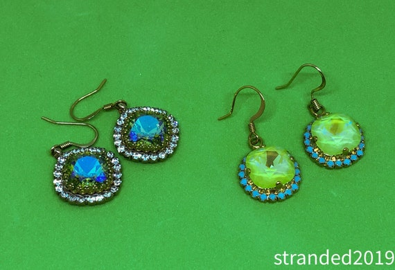 Springy Swarovski Earrings