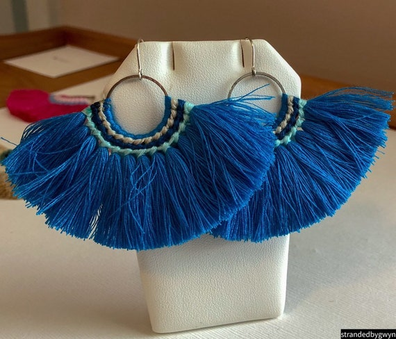 Boho Cotton Tassel Earrings