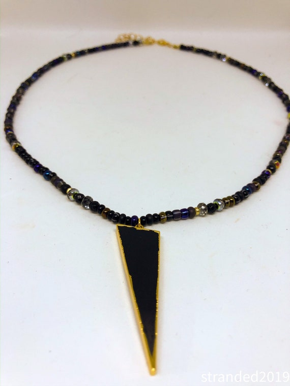 Jasper and Black Onyx Beaded Necklace