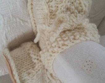 Organic Irish design baby shoes size 0-5 months