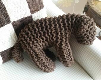 Beautiful Organic wool knitted lamb large