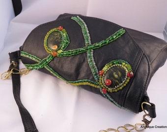 Greenery Handbag EBW Team March 2017challenge. Greens, golds