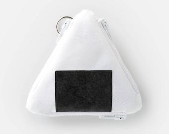 Onigiri Coin Case (rice ball triple-pocket purse / Japanese inspired multi-pocket, part-tyvek wallet)
