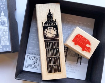 ON SALE Yellow Owl Workshop LONDON Rubber Stamp Kit