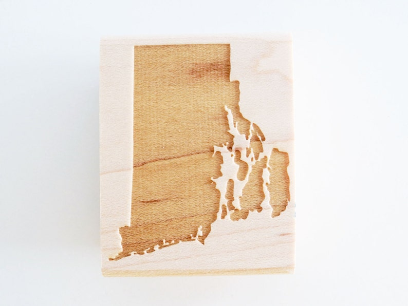 Rhode Island State Rubber Stamp
