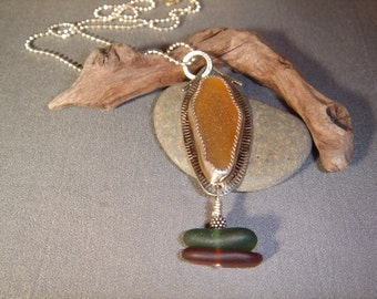 Handcrafted Sea Glass Pendant