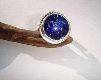 Handcrafted Sterling Silver Enameled Ring