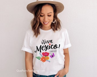 Viva México Cabrones, white T-Shirt, Mexican Pride, Gift for Her